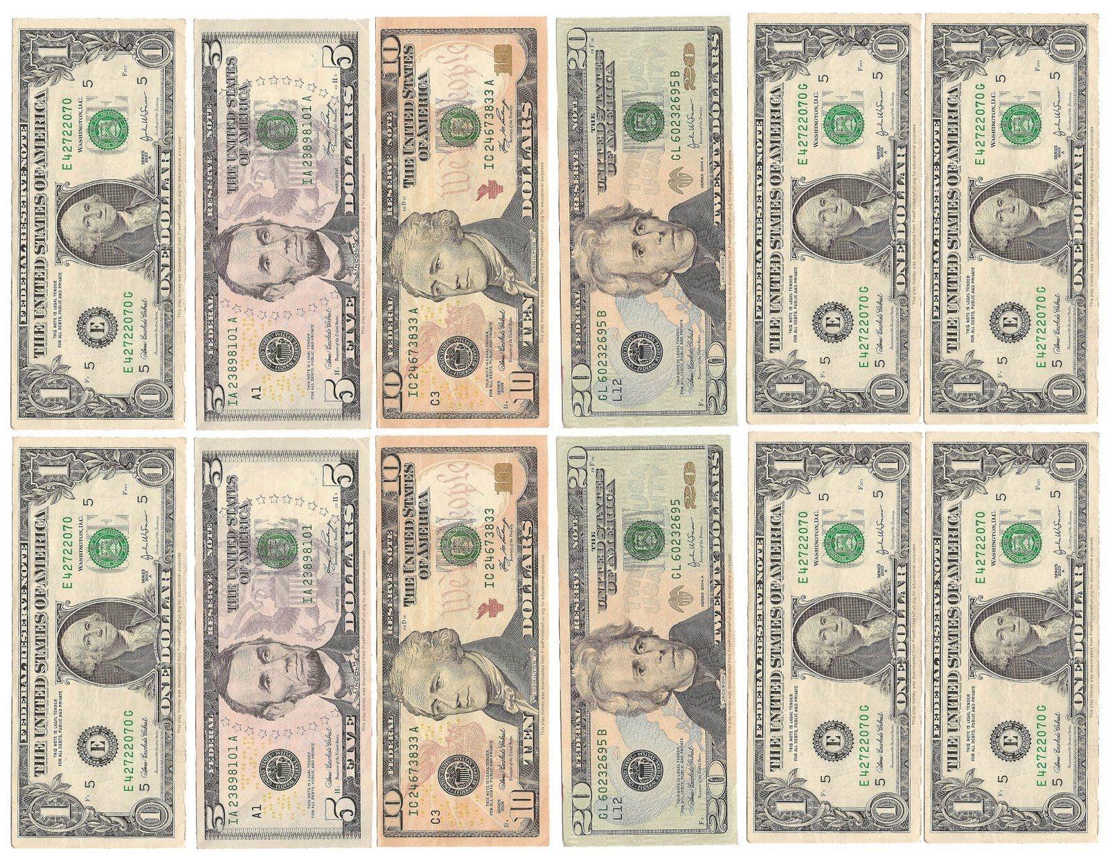 Money Money Money!   Kid's Room   Play Money Template, Printable - Free Printable Fake Money That Looks Real