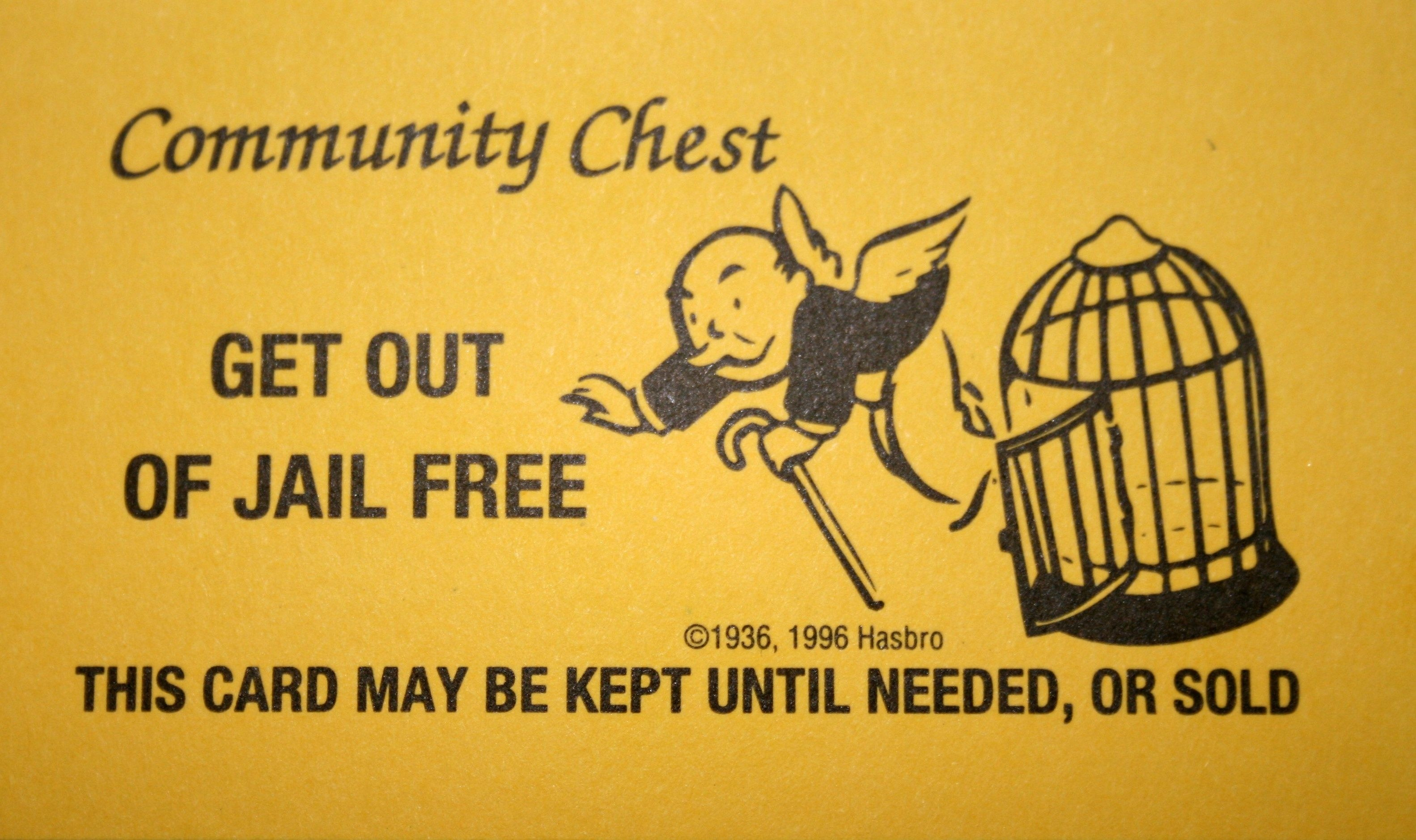 Monopoly Get Out Of Jail Free Card Printable Quality Images | Iphoto - Get Out Of Jail Free Card Printable