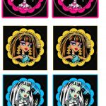 Monster High: Free Printable Wrappers Cupcake. | Party Ideas   Free Printable Monster High Stickers