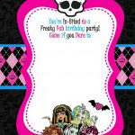 Monster High Party Invitations Template • Invitation Template Ideas   Free Printable Monster Templates