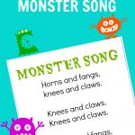 Monster Song – Free Printable – No Time For Flash Cards – Roll A Monster Free Printable