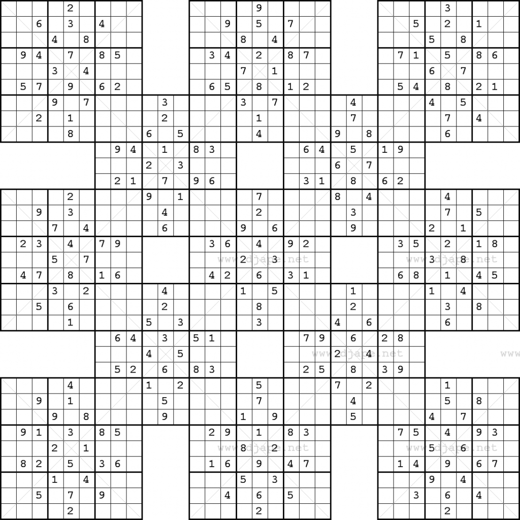 Monster Sudoku 16X16 Printable | Www.topsimages | Printable Monster - Sudoku 16X16 Printable Free