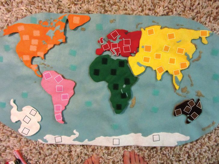 Montessori World Map Free Printable