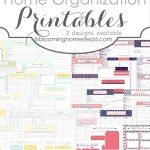More Than 200 Free Home Management Binder Printables | Fab N' Free - Free Printable Home Organizer Notebook