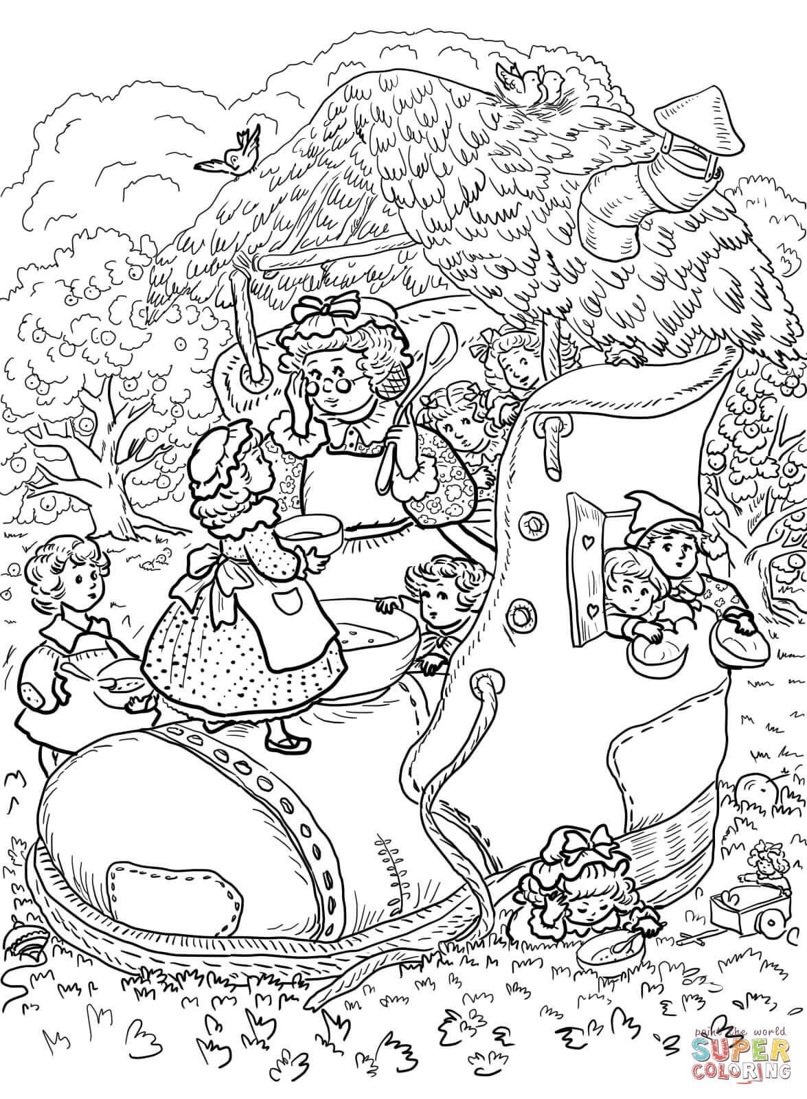 Mother Goose Nursery Rhymes Coloring Pages | Free Coloring Pages - Free Printable Mother Goose Nursery Rhymes