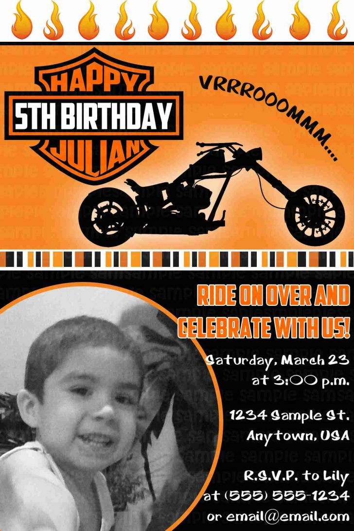 Motorcycle Invitations Free Printable