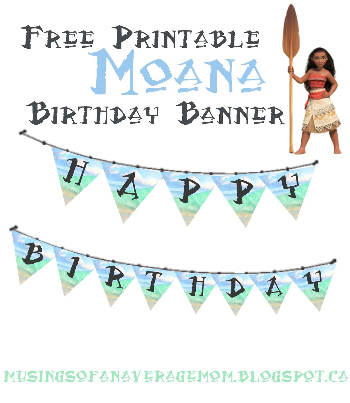 Musings Of An Average Mom: Moana Birthday Banner - Free Printable Moana Banner
