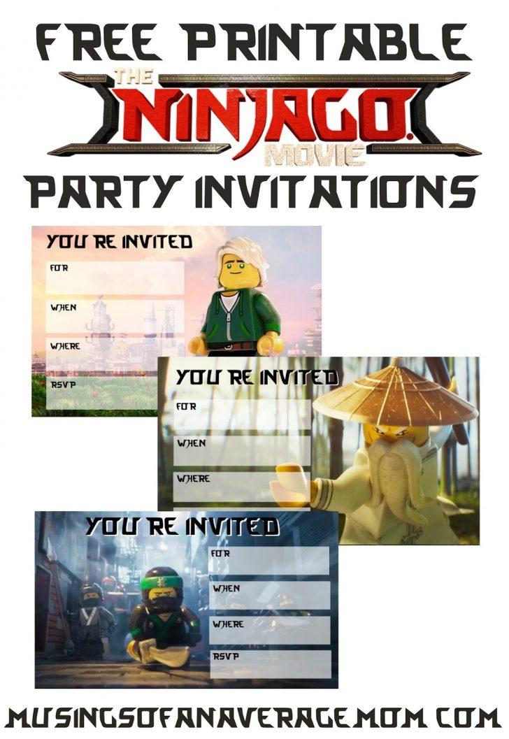 Lego Ninjago Party Invitations Printable Free