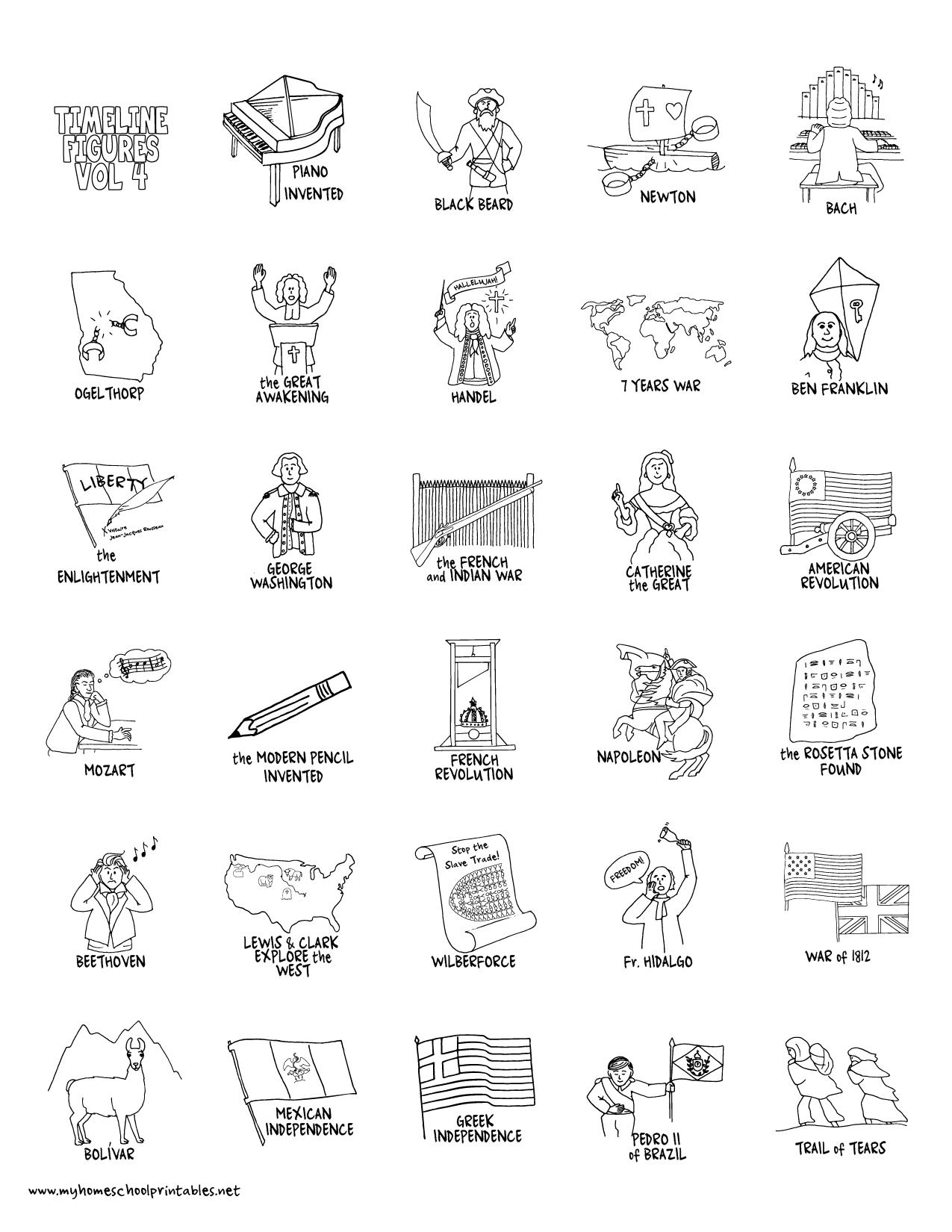My Homeschool Printables » Timeline Figures – Volume 4 - Free Printable Timeline Figures