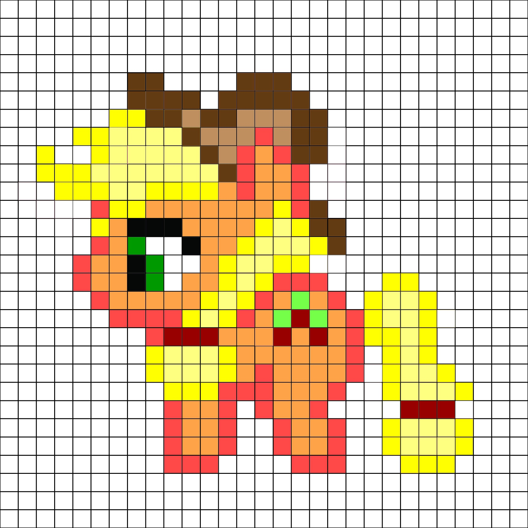 My Little Pony - Apple Jack Pattern -Me For A Free And Better - Pony Bead Patterns Free Printable