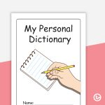 My Personal Dictionary Template   Color Teaching Resource | Teach   My Spelling Dictionary Printable Free