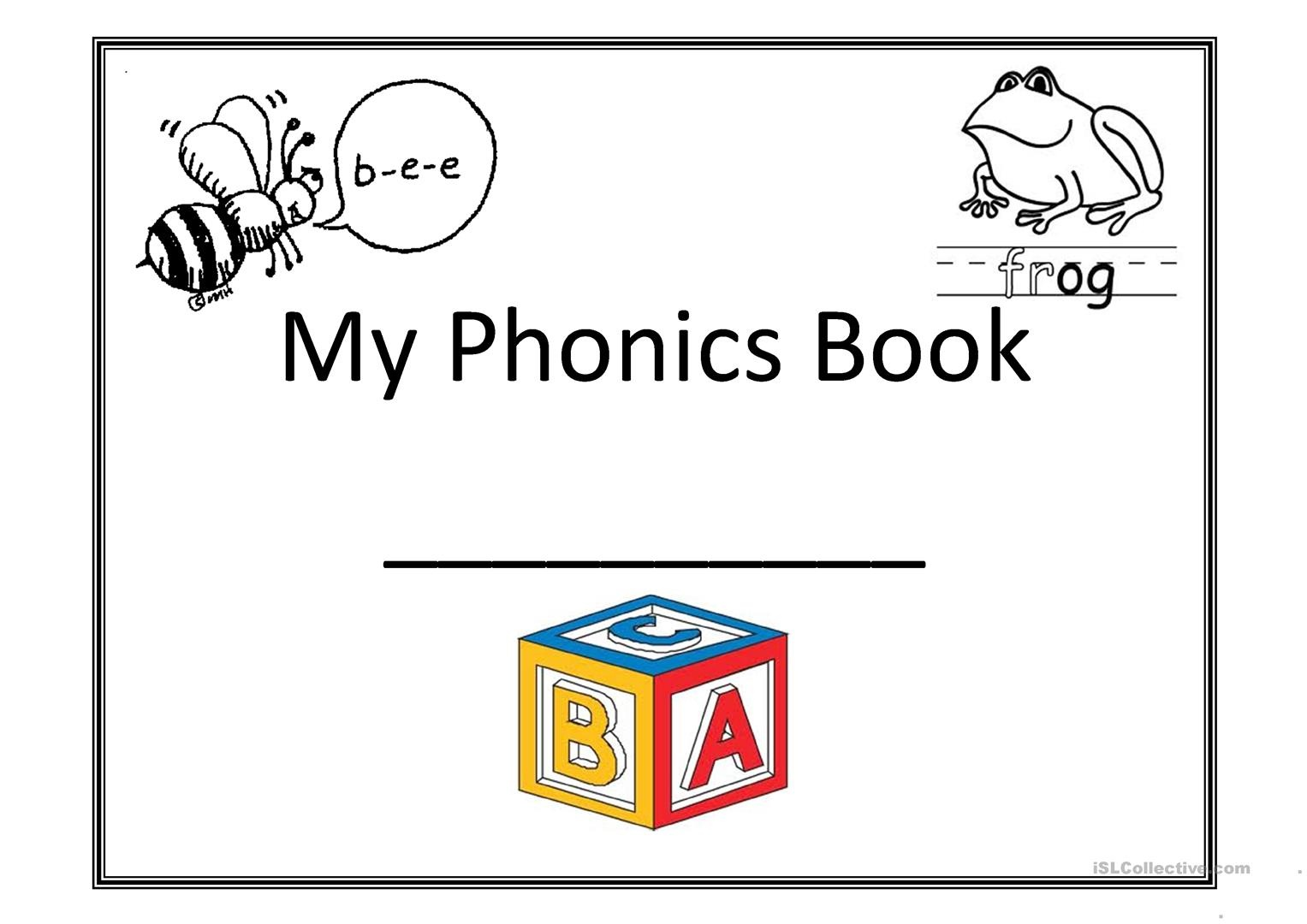 My Phonics Book Worksheet - Free Esl Printable Worksheets Made - Free Phonics Readers Printable