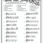 Name That Song (Free Printable Christmas Game)   Flanders Family   Free Printable Christmas Song Picture Game