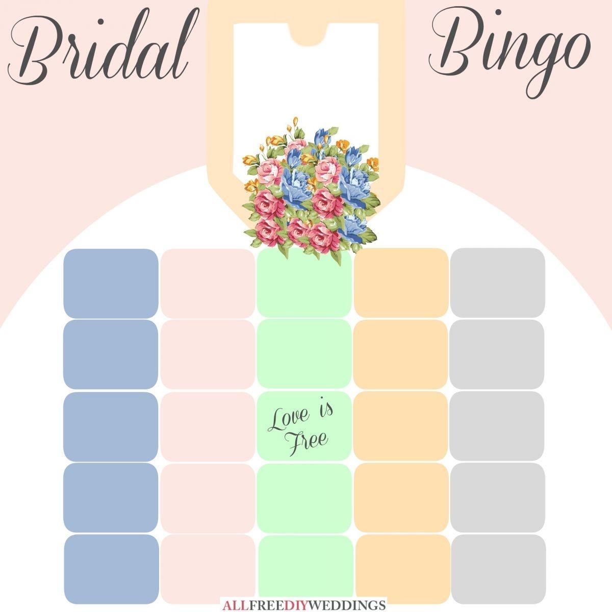 New Bridal Bingo: Free Bridal Shower Games | Allfreediyweddings - Free Printable Bridal Shower Blank Bingo Games