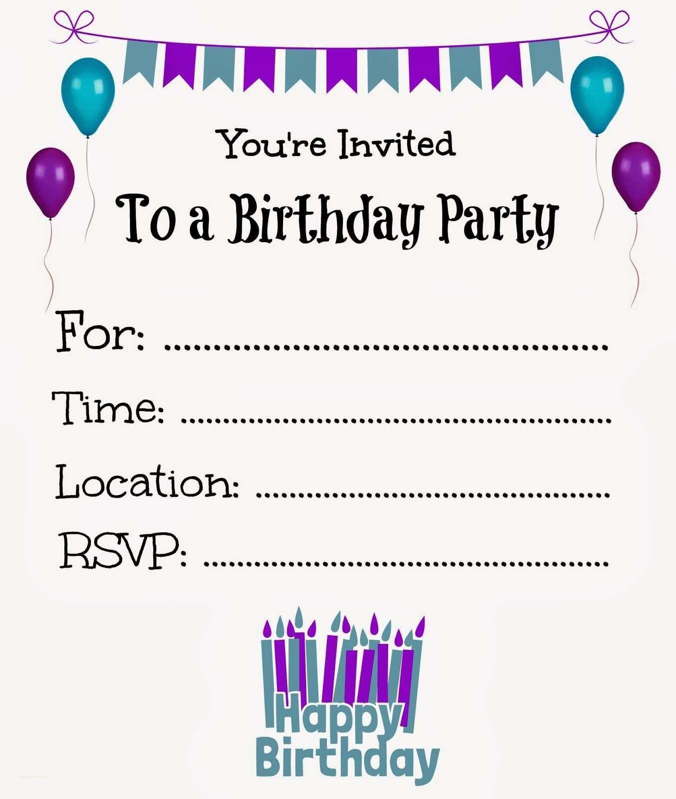 New Free Online Printable Birthday Party Invitations | Holiday - Birthday Party Invitations Online Free Printable