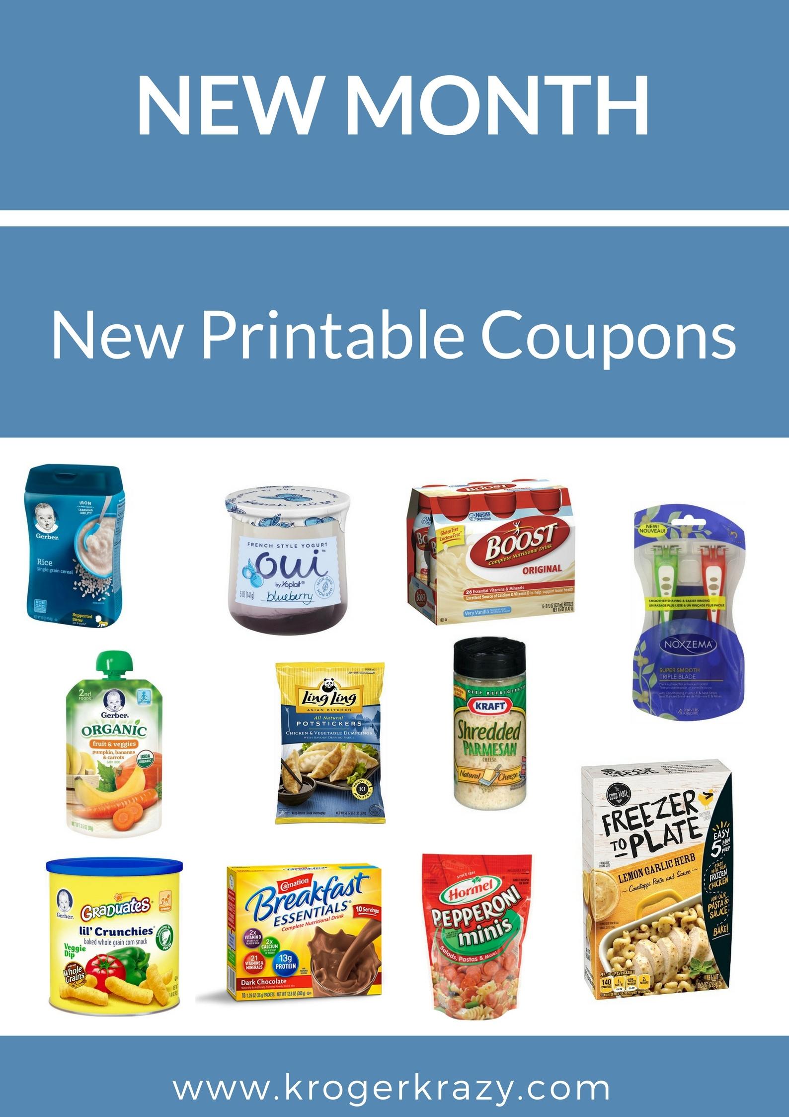 New Month! New Printable Coupons! Kraft, Post, Gerber, Noxzema - Free Printable Kraft Food Coupons