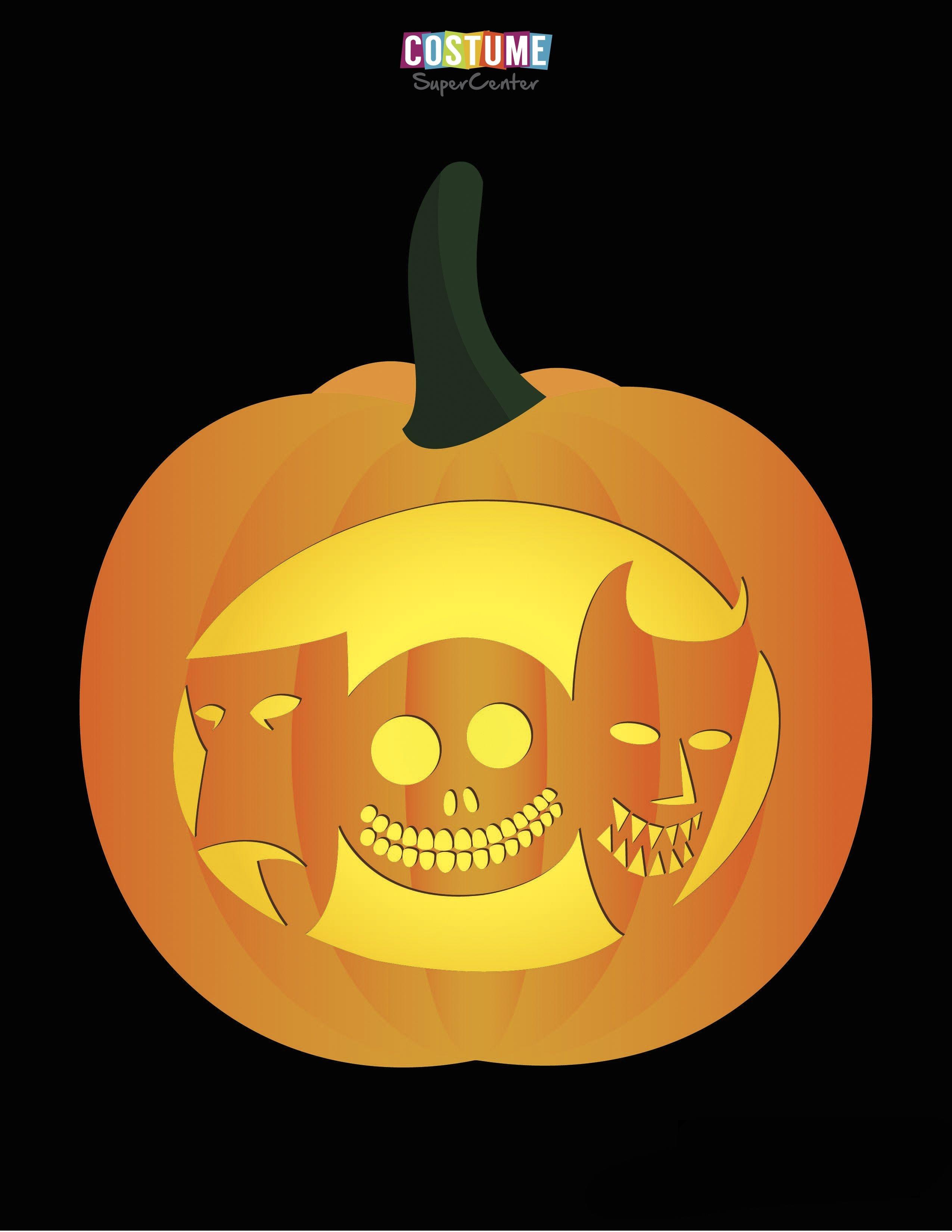 Nightmare Before Christmas Pumpkin Carving Stencils | Jack - Free Printable Nightmare Before Christmas Pumpkin Stencils