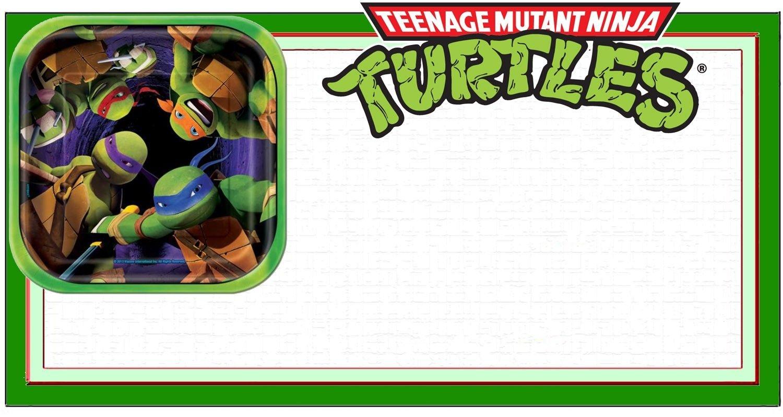 Ninja Turtle Invitation Template | Coolest Invitation Templates - Free Printable Tmnt Birthday Party Invitations