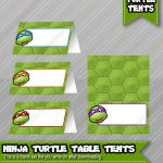 Ninja Turtles Birthday Food Table Tents Cards Blank   Instant   Free Printable Tmnt Food Labels
