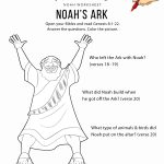 Noah's Ark Worksheet And Coloring Page | Bible Study For Kids – Free Printable Children's Bible Lessons