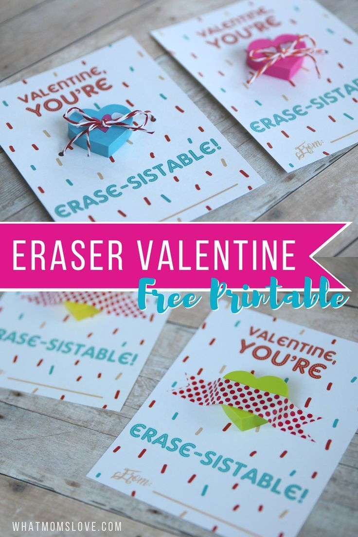 "Non-Candy Printable Valentine Perfect For The Classroom: ""You're - Free Printable School Valentines Cards"