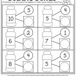 Number Bubble Bonds (Cut And Paste) | Kindergarten Activities   Free Printable Number Bonds Worksheets For Kindergarten