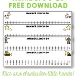 Number Lines 0 To 20 Unicorns Stars Construction Pirates Free   Free Printable Number Line
