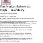 Obituary Examples, Sample Obituary. Make It Unique With These - Free Printable Obituary