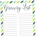 Organizing Grocery List   Free Printable   Free Printable Grocery List