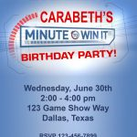 """Paper Perfection: Free """"minute To Win It"""" Birthday Party Invitation   Free Printable Minute To Win It Invitations"""