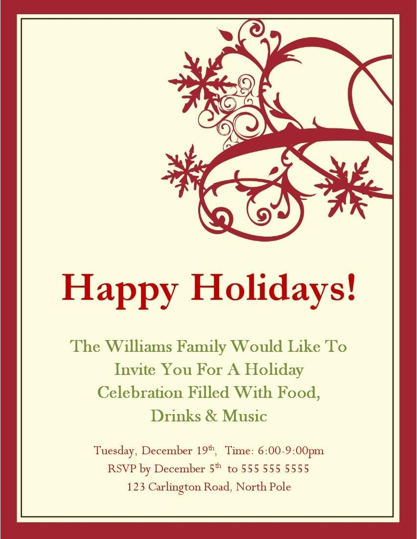 Party Invitations Free To Use Christmas Invitation Templates - Printable Invitations Free No Download