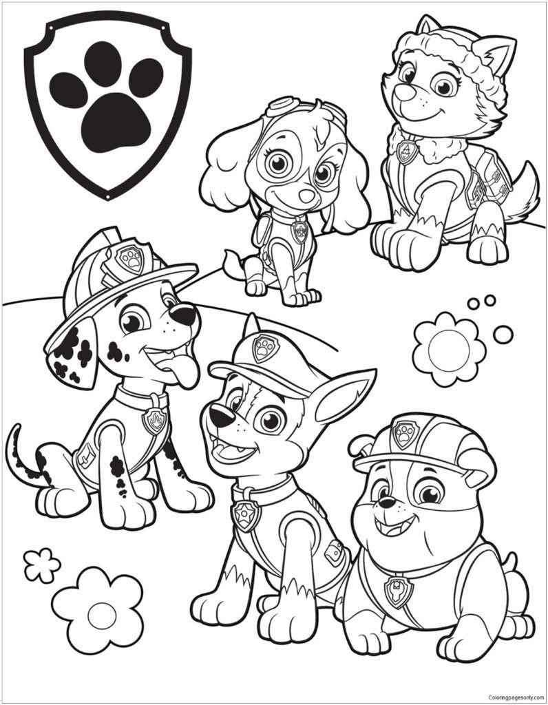 Paw Patrol Coloring Pages | Coloring Pages | Kleurplaten, Kleuren - Free Printable Paw Patrol Coloring Pages