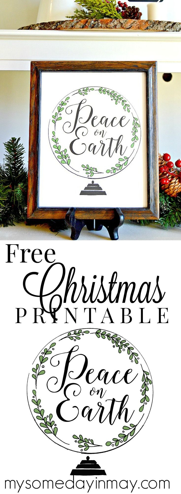 Peace On Earth Free Printable | Share Your Craft | Free Christmas - Free Printable Christmas Party Signs