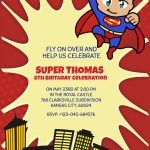 Personalized Superhero Superman Birthday Invitation Template   Free Printable Superman Invitations