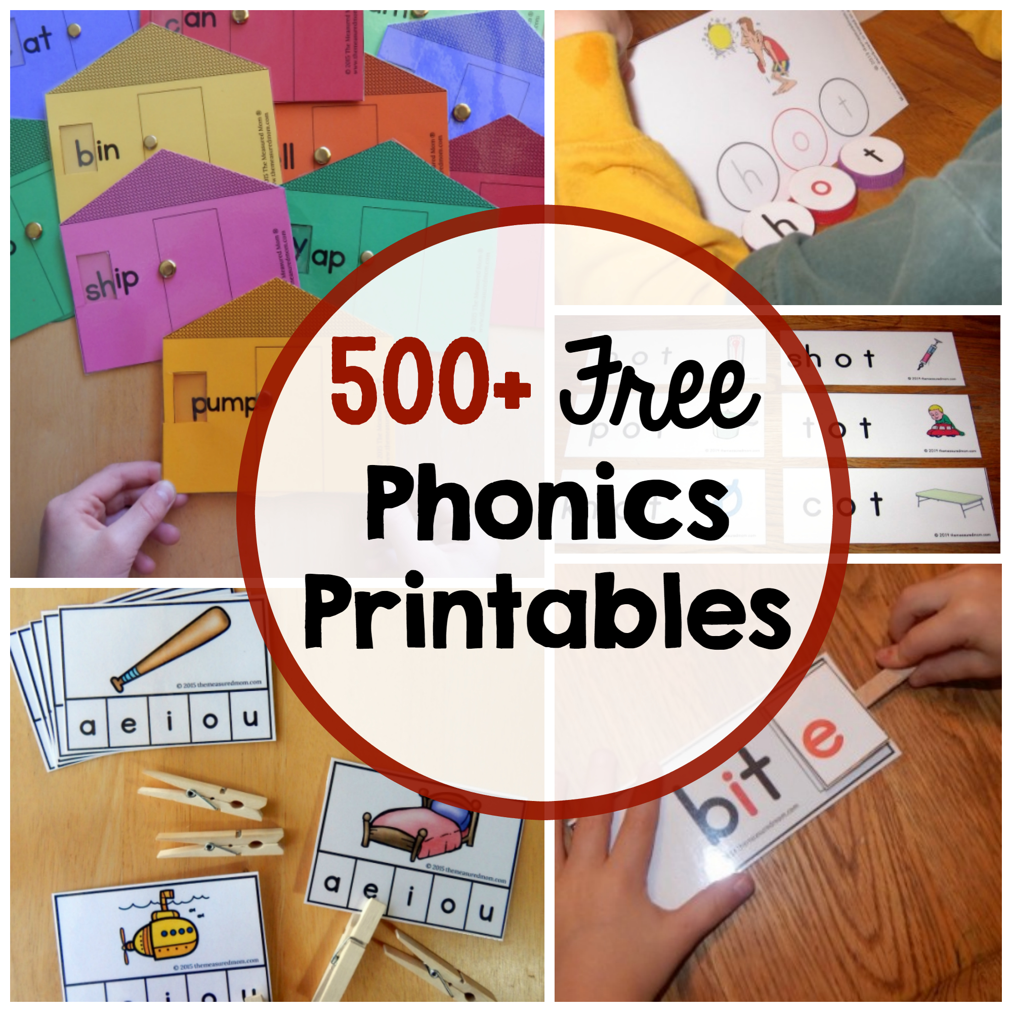 Phonics Activities - The Measured Mom - Free Phonics Readers Printable