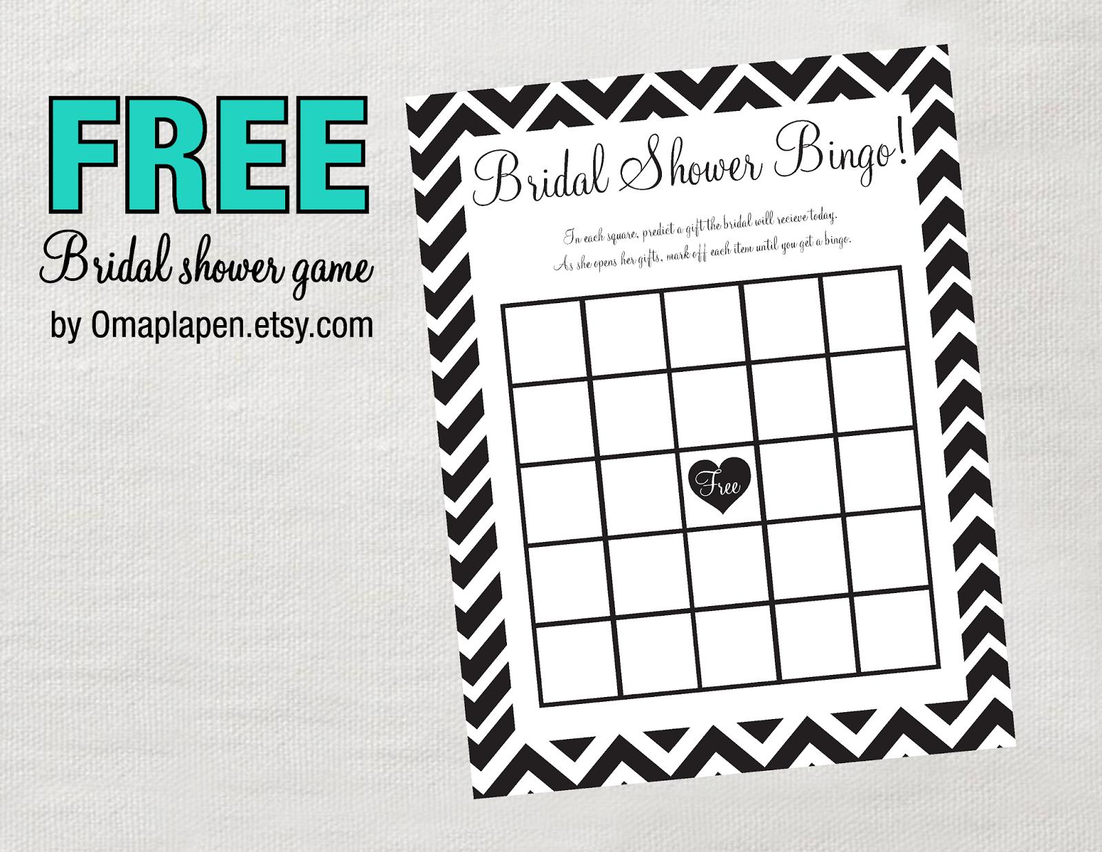 Photo : Free Wedding Shower Games Bingo Image - Free Printable Bridal Shower Blank Bingo Games