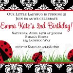 Photo : Printable Birthday Invitations Ladybug Image – Free Printable Ladybug Invitations