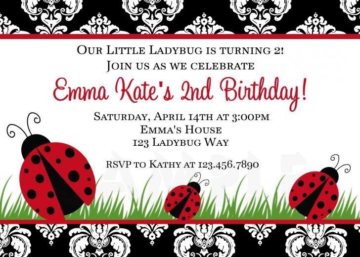 Free Printable Ladybug Invitations
