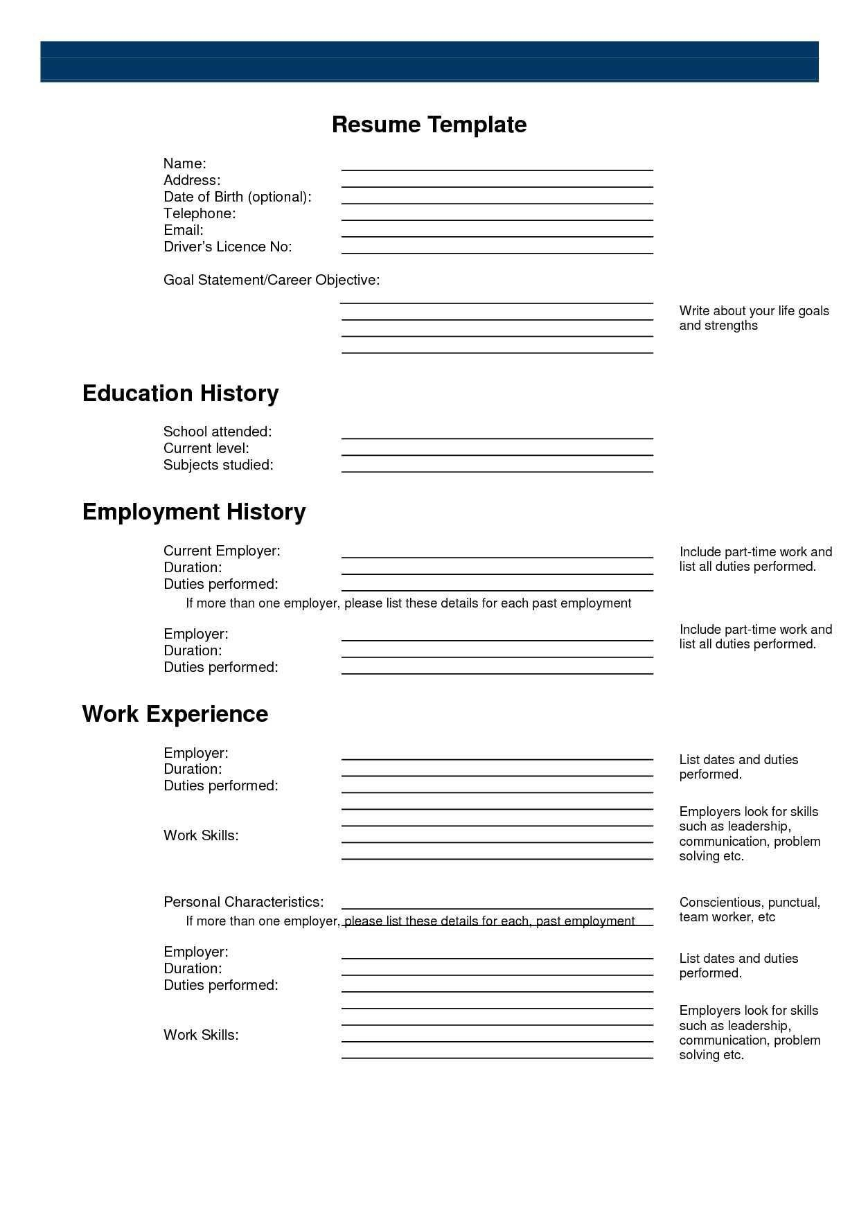 Pinanishfeds On Resumes   Free Printable Resume, Free Printable - Free Printable Professional Resume Templates
