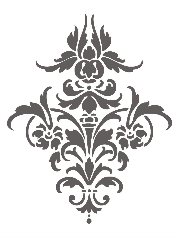 Pinanuja Pareek On Prints | Damask Stencil, Stencil Patterns - Damask Stencil Printable Free