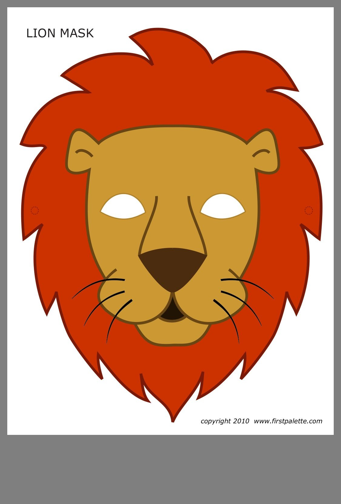 Pinbrenda S. On Bible Club | Lion Mask, Printable Halloween - Free Printable Lion Mask