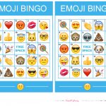 Pincrafty Annabelle On Emoji Printables | Emoji Bingo, Sleepover   Free Emoji Bingo Printable