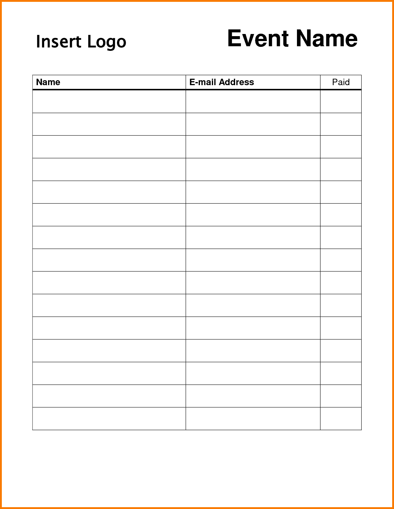 Pindonna Silva On Dojo Marketing Ideas | Sign In Sheet - Free Printable Sign Up Sheet