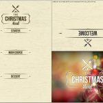 Pineliza Phaneuf Hall On Christmas Eve Party | Menu Template   Christmas Menu Printable Template Free