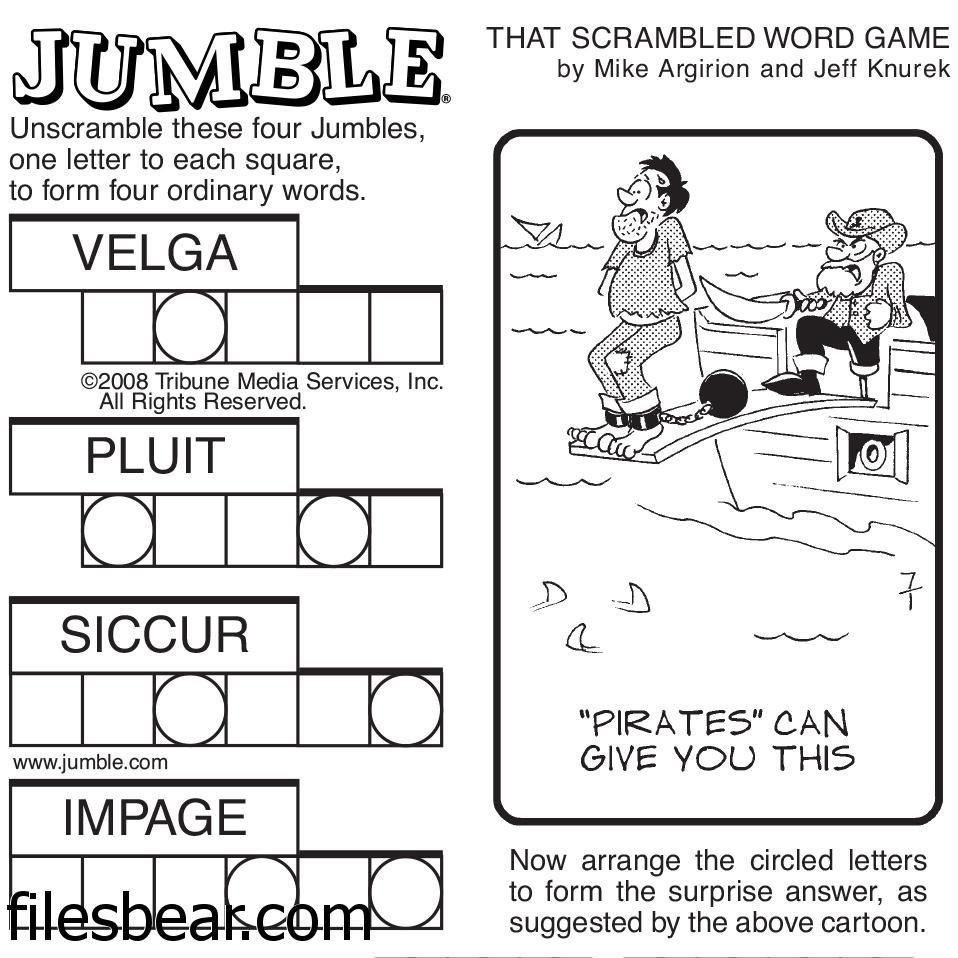 Pinfiles Bear On Free Windows Games | Jumbled Words Game, Word - Jumble Puzzle Printable Free