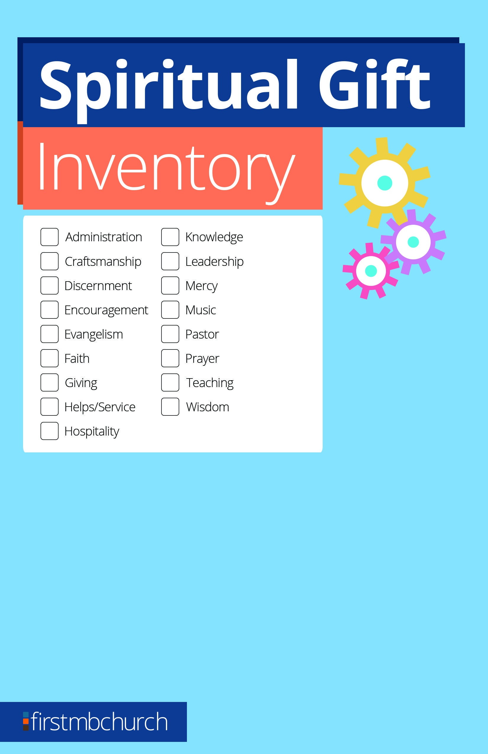 Pinfirst Mb Church On Resources | Spiritual Gifts Inventory - Free Printable Spiritual Gifts Test For Youth