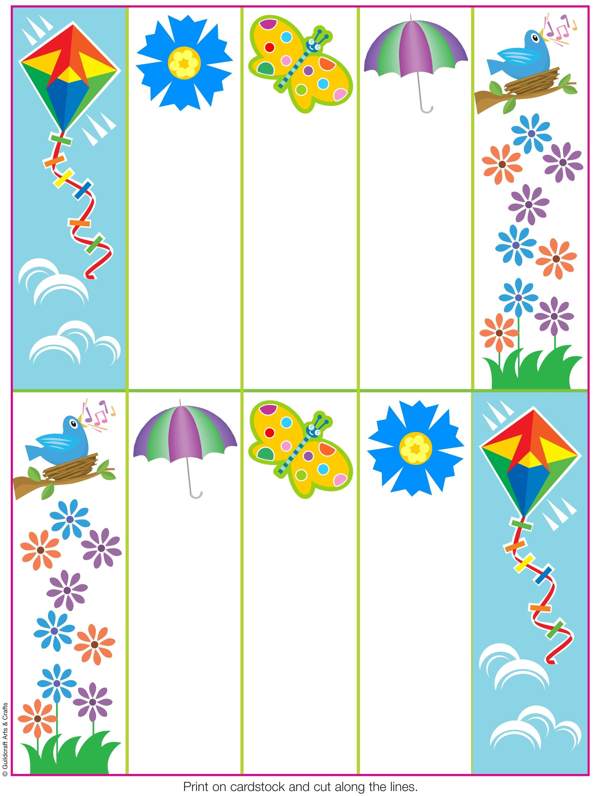 Pinguildcraft Arts & Crafts On Printables | Bookmarks, How To - Free Printable Spring Bookmarks