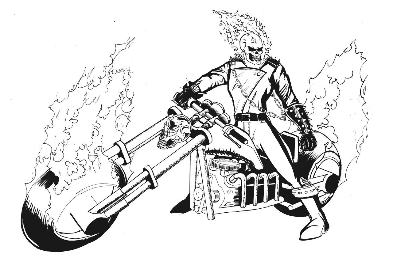Pinjennifer Moore On Eric | Ghost Rider, Coloring Pages - Free Printable Ghost Rider Coloring Pages
