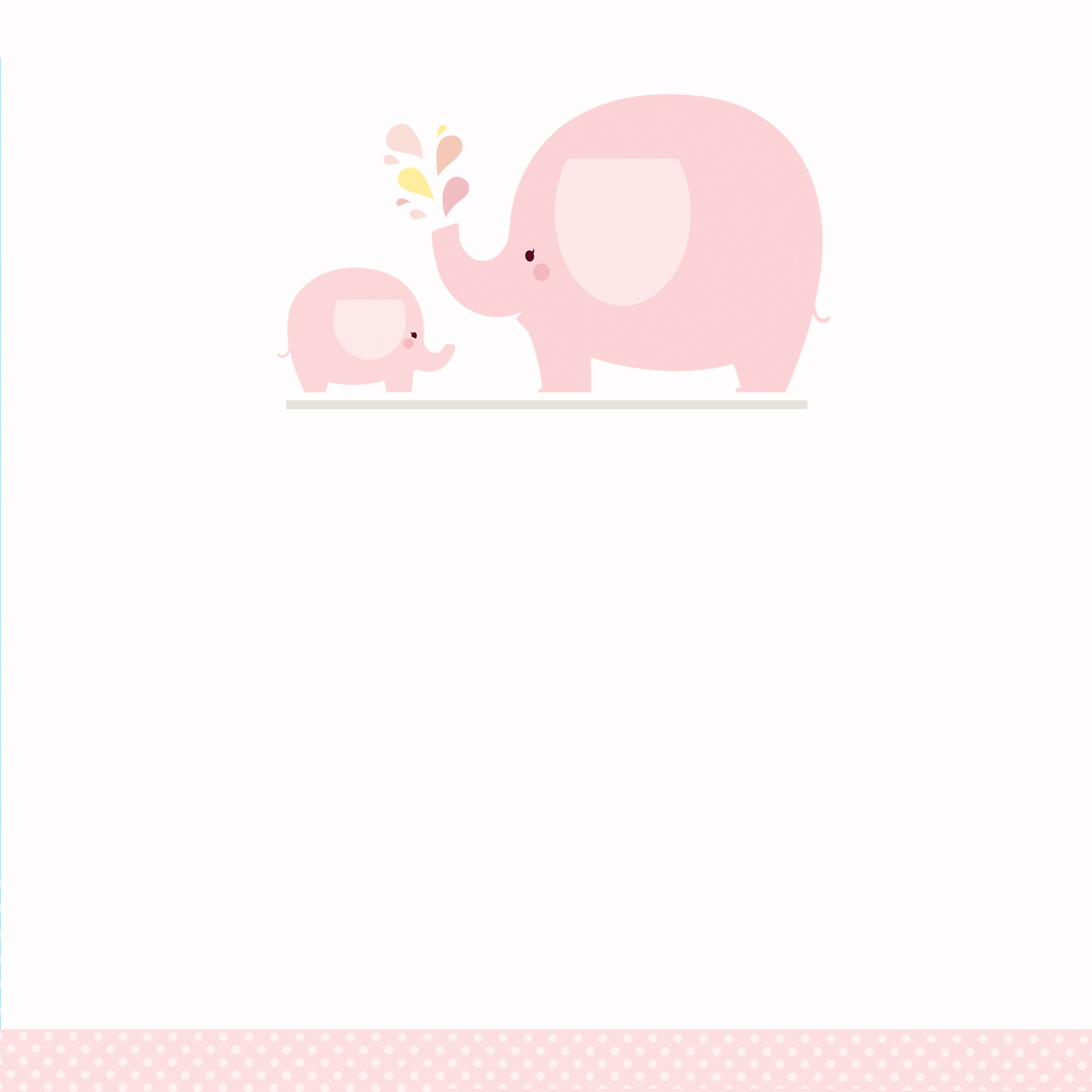 Pink Baby Elephant - Free Printable Baby Shower Invitation Template - Free Printable Elephant Baby Shower Invitations