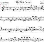 Pink Panther Sheet Music For Mobile The Pink Panther Theme1275   Free Printable Alto Saxophone Sheet Music Pink Panther